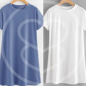 Dresses - ROBBIE Comfy t-shirt Dress - WHITE